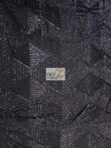 Cosmic Mini Disc Geometric Sequin Mesh Fabric Black