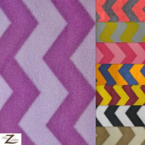 Chevron Fleece Fabric By The Yard