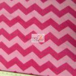 Chevron Fleece Fabric Pink Fuchsia By The Yard
