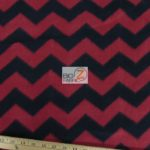 Chevron Fleece Fabric Red Black By The Yard