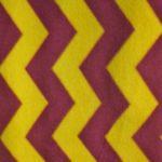 Chevron Fleece Fabric Yellow Burgundy By The Yard