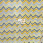 Chevron Fleece Fabric Yellow By The Yard