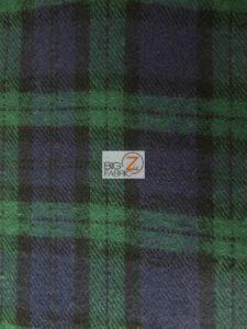 Tartan Plaid Flannel Fabric Green/Purple