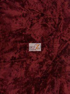 Crush Flocking Velvet Fabric Burgundy
