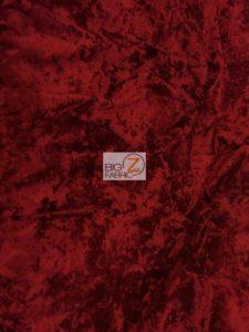 Crush Flocking Velvet Fabric Dark Red