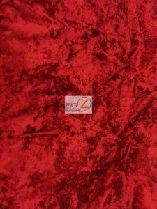 Crush Flocking Velvet Fabric Red