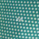 Aqua/White Polka Dot Fleece Fabric By The Yard