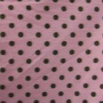 Pink/Brown Polka Dot Fleece Fabric By The Yard