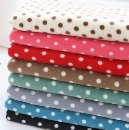 Polka Dot Fleece Fabric By The Yard