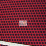 Red/Black Polka Dot Fleece Fabric By The Yard