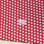 Red/White Polka Dot Fleece Fabric By The Yard