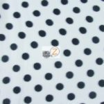 White/Black Polka Dot Fleece Fabric By The Yard