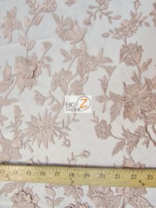 3D Hybrid Floral Lace Mesh Fabric Measurement