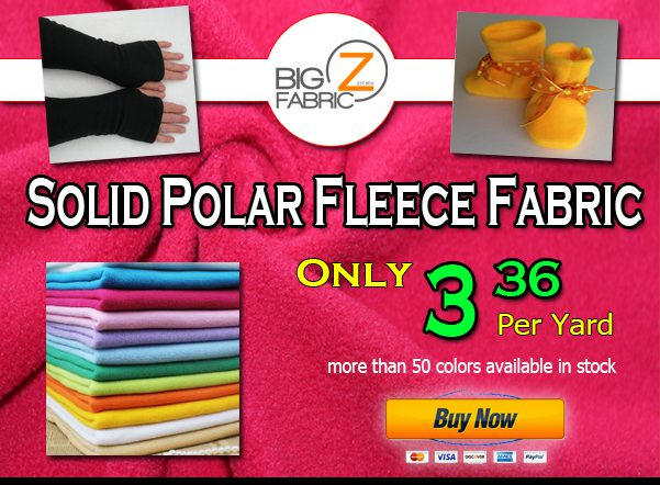 Solid Fleece Fabric Sale