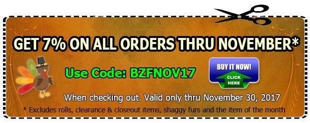 Big Z Fabric November Discount