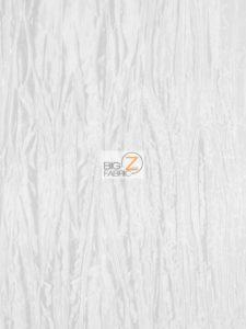 Crushed Taffeta Fabric White