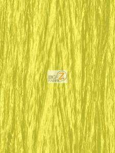 Crushed Taffeta Fabric Yellow