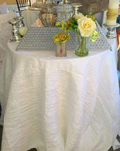 Crushed Taffeta Tablecloth