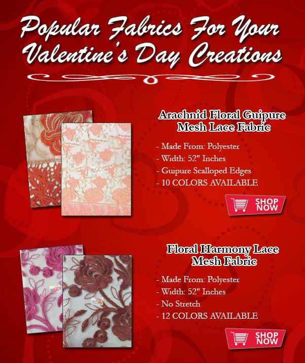 Fabrics Perfect For Valentine's Day Creations