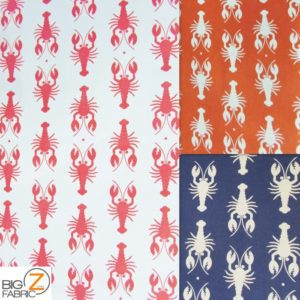 Lobster Riley Blake 100% Cotton Duck Fabric