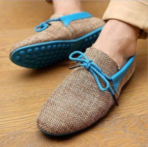 Burlap Fabric Fashion Shoes