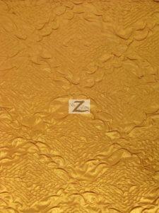 Diamond Crush Taffeta Fabric Gold
