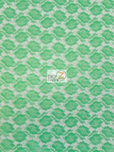 Flower Lace Fabric Lime