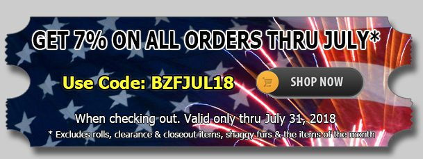 Big Z Fabric Crazy July Sale!!!