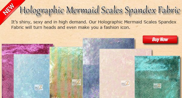 Holographic Mermaid Scales Apparel Spandex Fabric