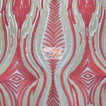 Mystic Eye Lace Fabric By The Yard Red