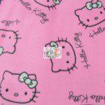 SPRINGS CREATIVE FLEECE FABRIC BY THE YARD HELLO KITTY PINK