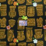 Alexander Henry Tahiti Tiki Cotton Fabric By The Yard