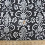 Black Floral Michael Miller Cotton Fabric By Yard