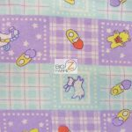 Baby Playtime Flannel Fabric Purple By Yard