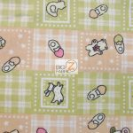 Baby Playtime Flannel Fabric Tan By Yard