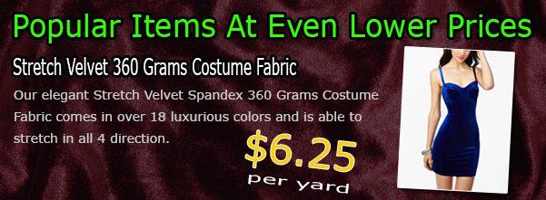 Velvet Spandex Fabric By Yard Sale
