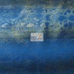 Aquamarine Sopythana Snake Vinyl Fabric By The Yard