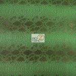 Venom Green Sopythana Snake Vinyl Fabric By The Yard