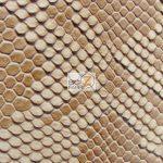 Western Brown Sopythana Snake Vinyl Fabric By The Yard