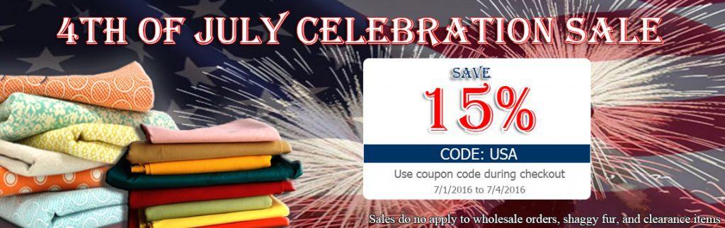 4th of July Big Z Fabric Sale