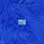 Solid Grizzly Fake Fur Fabric By Yard Royal Blue