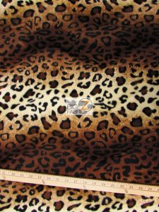 Brown Leopard Velboa Fabric By The Yard