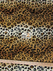 Copper Leopard Velboa Fabric By The Yard