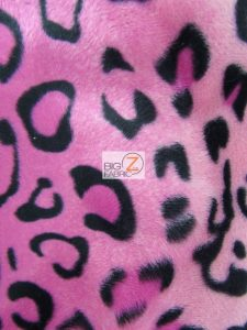 Pink Leopard Velboa Fabric By The Yard