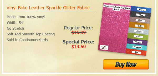 Sparkle Vinyl Fabric Steal Deal