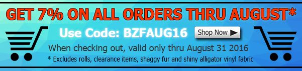 August Big Z Fabric Discount