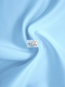 Sky Blue Solid Medium Weight Shiny Satin Fabric
