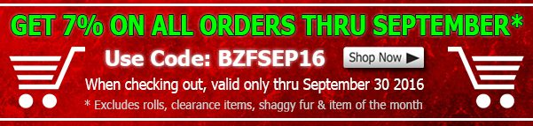 Big Z Fabric September Discount
