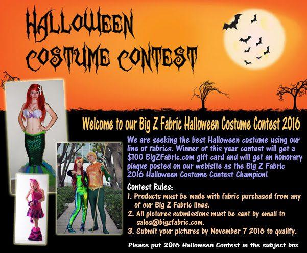 Big Z Fabric Halloween Costume Contest