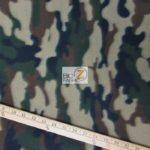 Army Camo Print Fleece Fabric By The Yard